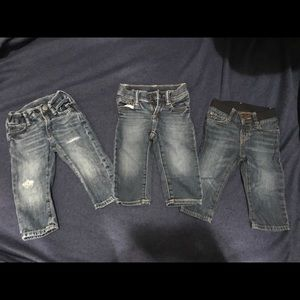 Bundle of three pairs of jeans, size 12-18 months